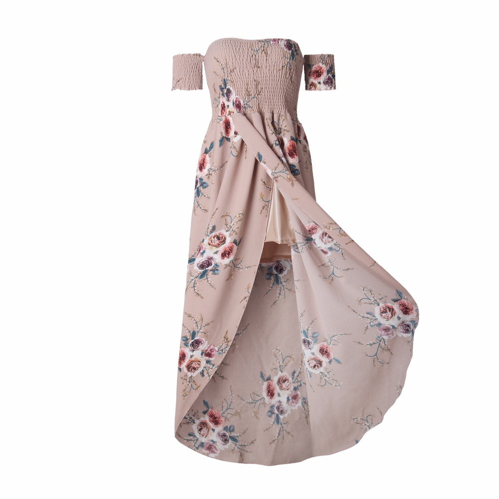 HTB1wBumi0fJ8KJjy0Feq6xKEXXa3 - Boho style long dress women Off shoulder beach summer dresses Floral print Vintage chiffon white maxi dress vestidos de festa