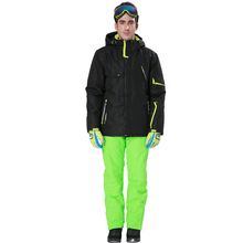 Phibee Men Ski Suit Ski Jacket and Pants Windproof Waterproof -30 Degree Free Shipping 8022