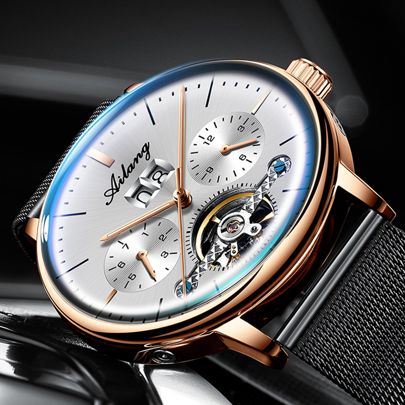 2019 nuevo reloj automático AILANG reloj mecánico para hombre relojes de turbillon impermeables luminosos Steampunk de lujo reloj masculino - 3