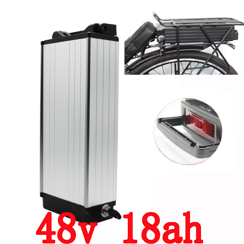 Super power rear rack lithium battery 48v 18Ah for ebike+charger electric bicycle battery free customs taxes super power 1000w 48v li ion battery pack with 30a bms 48v 15ah lithium battery pack for panasonic cell