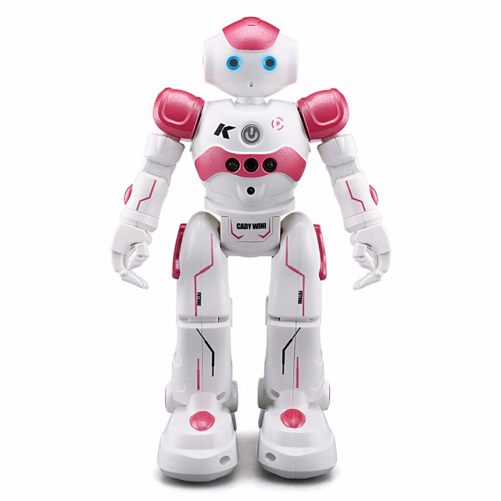 Remote Control Robot Toy RC Robot Toy JJRC R2 USB Charging Dancing Blue Pink Gesture Control for Children Kids Birthday Present jjrc rc robot kids toy 2 4g intelligent programming gesture sensor singing dancing display candy action figure robots toy