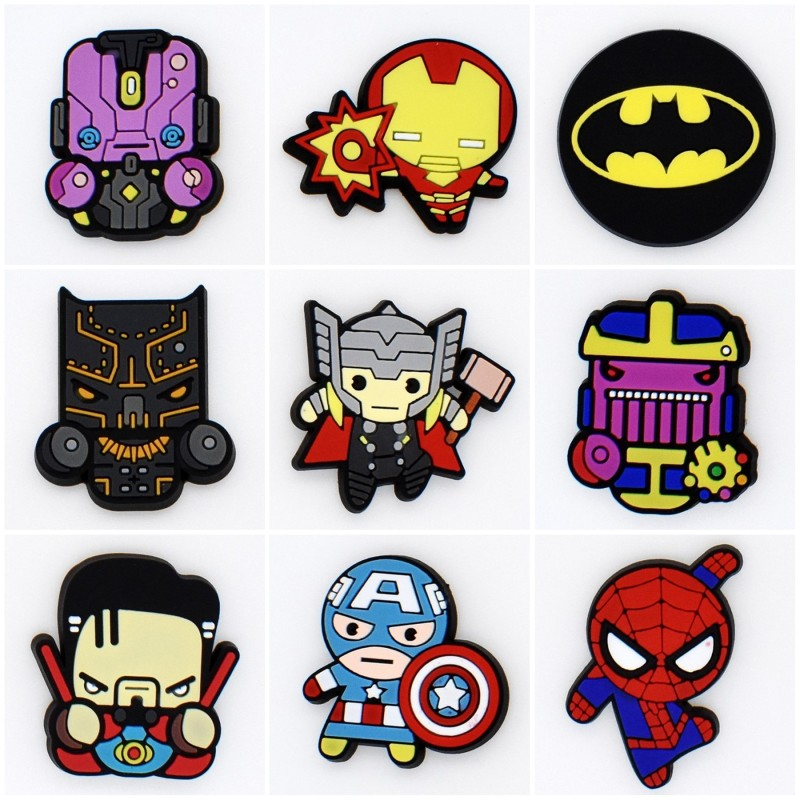50Pcs Cartoon Cute 4 5cm Anime Avengers Black Panther ...