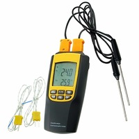 K or J Type Thermocouple Thermometer Probes Portable Celsius / Fahrenheit Temperature Tester Sensors