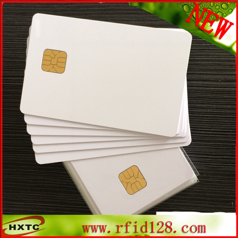 200PCS / Lot Printable PVC Contact Smart IC Blank Card With SLE4428 Chip (1K Memory) For E pson/C anon Inkjet Printer 20pcs lot contact sle4428 chip gold card with magnetic stripe pvc blank smart card purchase card 1k memory free shipping