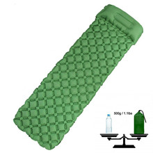 Camping Sleeping Pad Ultralight Inflatable Mat Outdoor Survival Travel Hiking Bed Air Sofa Bag