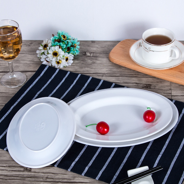 Tableware Dishes \u0026 Plates Oval plate Melamine Elegant fashion dish Durable dinner plate & Tableware Dishes \u0026 Plates Oval plate Melamine Elegant fashion dish ...