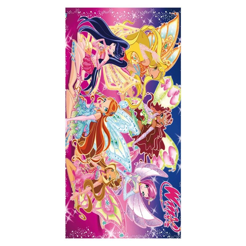 Serviette De Bain Winx.12 82 30 De Reduction Winx Club Joli Dessin Anime Filles Fond Imprime Bambou Fiber Serviettes De Bain Super Absorbant L Eau Serviette De Plage En
