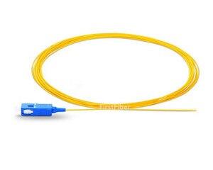 Image 2 - 1.5 m 50 pcs SC UPC Codino LC UPC in fibra della treccia G657A Treccia di fibra Simplex Modalità Singola Fibra Ottica Della Treccia 0.9 millimetri PVC