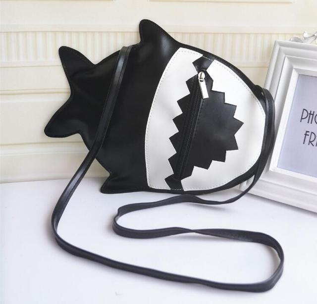 Aliexpress.com : Buy Custom PU Imitation Leather Shark Style Sling ...