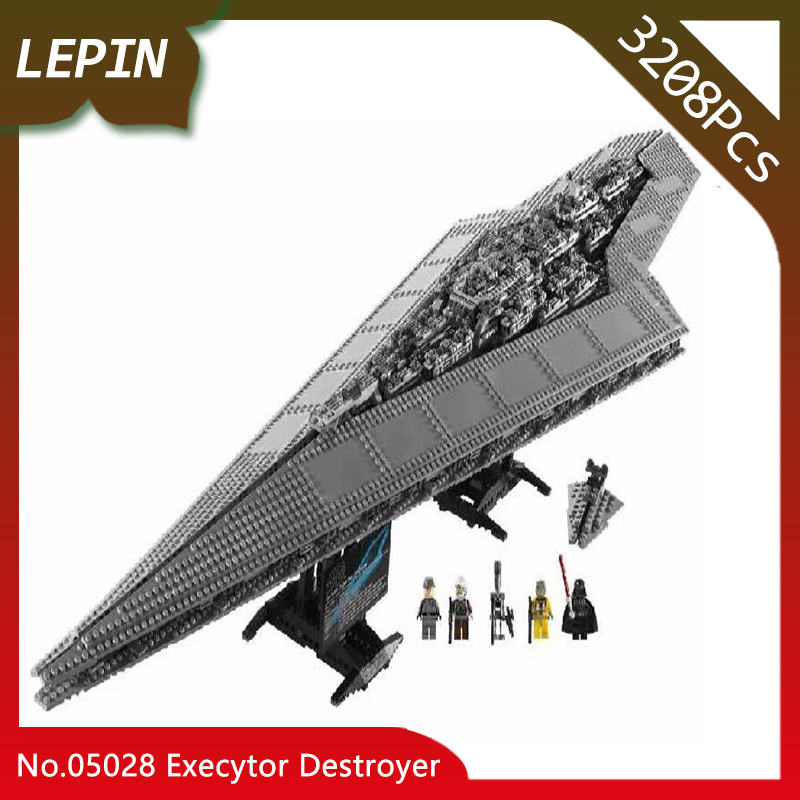 Lepin 05028 Star Space Wars Death Star Execytor Destroyer 3208Pcs Building Blocks Bricks For Children Toys Gifts 10221 Doinbby 05028 star wars execytor super star destroyer model building kit mini block brick toy gift compatible 75055 tos lepin