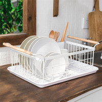 Kitchen Dish Cup Drying Rack Holder Drainer Basket Sink Kitchen Storage Organizer Large Metal Wire Cutlery for Plates Bowl Cup