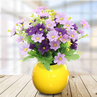 Wedding Decoration Mini Vase Round Ball Ceramic Pottery Flower Pot Office Balcony Garden Decoration Fleur Artificielle