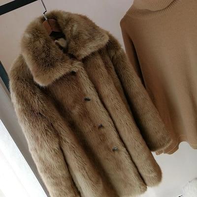 En Nouveau Style 2018 S27 Manteau Brown Femmes Fausse Gamme Mode De Fourrure Haut gWH60d6U4q