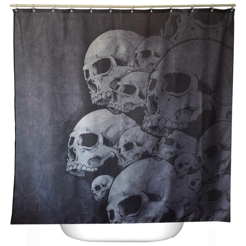 Halloween shower curtain hooks - Svetanya Skulls Print Shower Curtains Bath Products Bathroom Decor With Hooks Waterproof 71x71 China