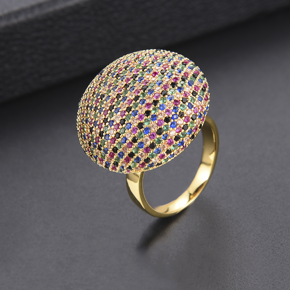 GODKI 25mm Luxury Multicolor CZ Rings Female Dubai Gold Ring Knuckle Rings For Women Wedding Engagement Jewelry Bagues Anillos men wedding band cz rings jewelry silver color anillos bague aneis ringen promise couple engagement rings for women