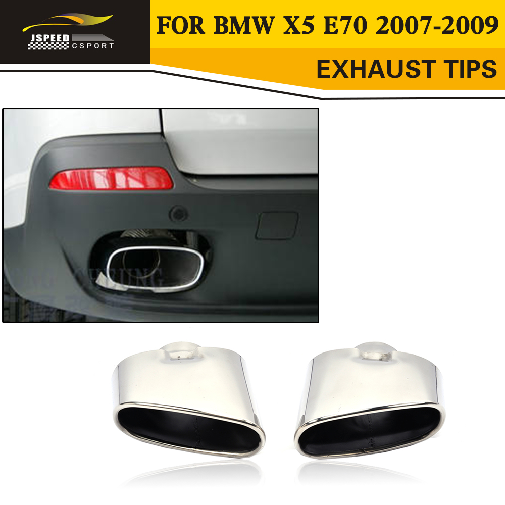 Stainless Steel Car Exhaust Tips Muffler Tail Tip For BMW X5 E70 2007-2009 stainless steel dual exhaust muffler tip tail pipe for bmw f30 320i 316i car styling