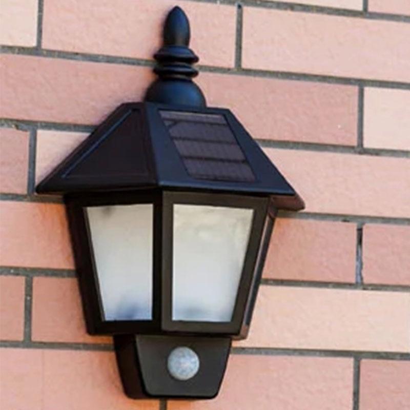 Modern Led Solar Panel Powered Motion Sensor Light Outdoor