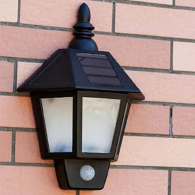 Modern Led Solar Panel Ed Motion Sensor Light Outdoor Wall Lamp Path Garden Fence Yard Waterproof