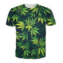 c07a162f7694 New weed green leaf Funny printed 3d women mens t shirt crew neck t shirts  short sleeve shirt unisex tees tops Plus size S-5XL