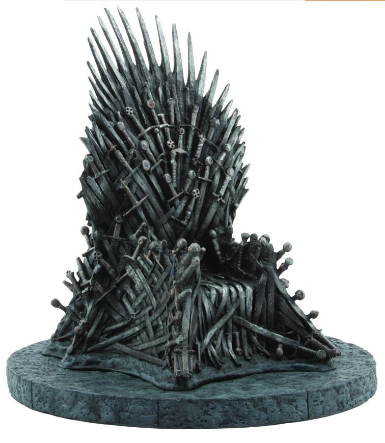the Iron Throne Action Figure Model Toys in Movie GAME OF THRONES A Song Of Ice And Fire game of thrones action figure toys sword chair model toy song of ice and fire the iron throne desk christmas gift 17cm
