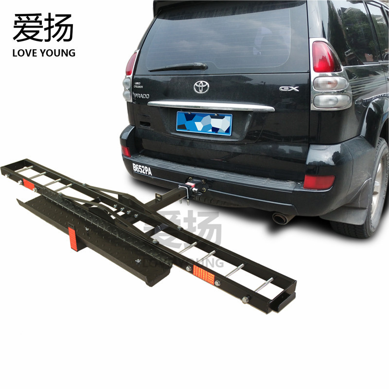 High performance SUV 4x4 universal safety tow type rear motorcycle rack/ hitch mount motorcycle carrier frame/car accessories