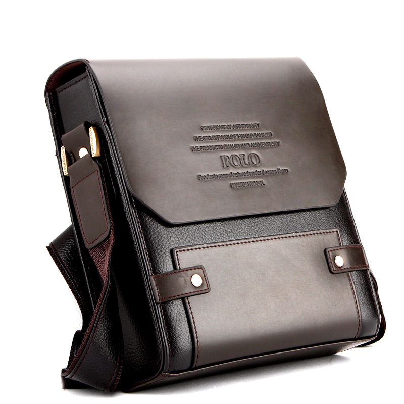 37cd9c63c2 Famous Brands Polo Retro Fashion Men Shoulder Bag Leisure Business Handbag  Messenger Bag Men PU Leather