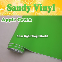 High Quality Apple Green Sandy Vinyl Roll Air Free Bubble For Vehicle Wraps Laptop Computer Size:1.52*30M/Roll(5ft x 98ft)