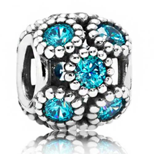 Stile semplice Grande Palla Stelle di Cristallo Fiori fai da te bead misura Originale Pandora charms Braccialetto gioielli ciondolo per I Regali di donne