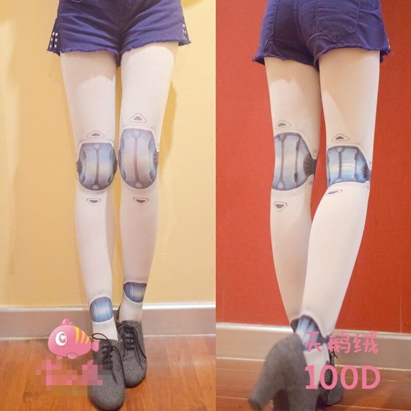 Princess sweet lolita pantyhose for height 150-168cm Original mechanical ball joint doll printing girls tattoo pantyhose LKW32