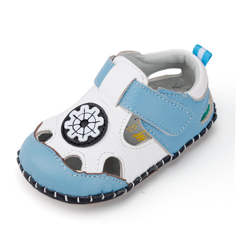 Summer Baby First Walkers Fashion Toddler Boys Cowhide Shoes Girls Soft Sole Anti-Slip Toddler Baby Footwear Infant