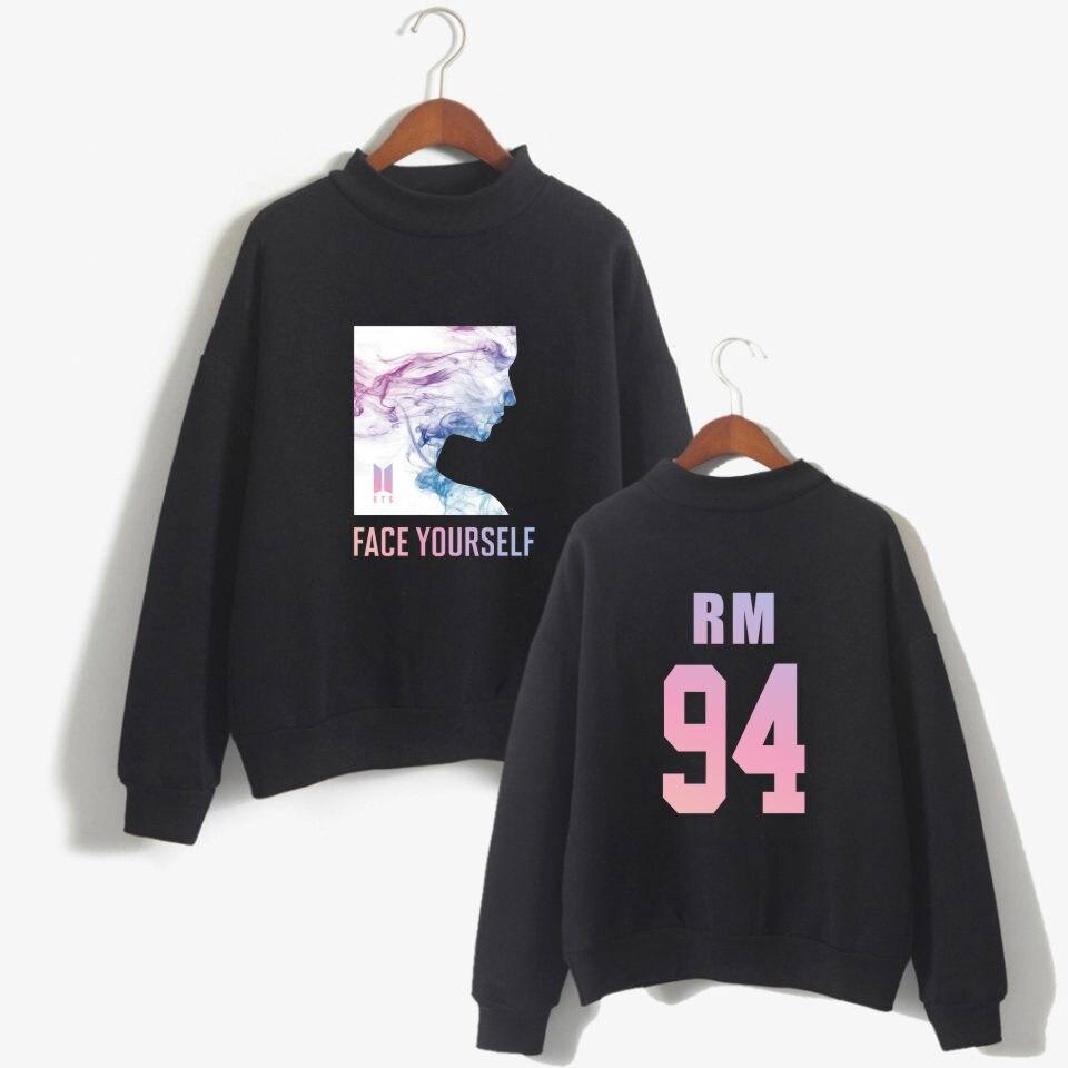 BTS K-pop Face Yourself Hoodie Sweatshirt Women Unisex Bangtan Boys Fashion Female Fans Capless Casual Clothes XXS To 4XL