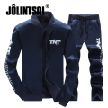 Jolintsai Sportwear Suit Hoodies&Sweatershirts+Pants Tracksuit Men 2017 Plus Size 4XL Hoodie Set sudaderas hombre Sweat Suit Men