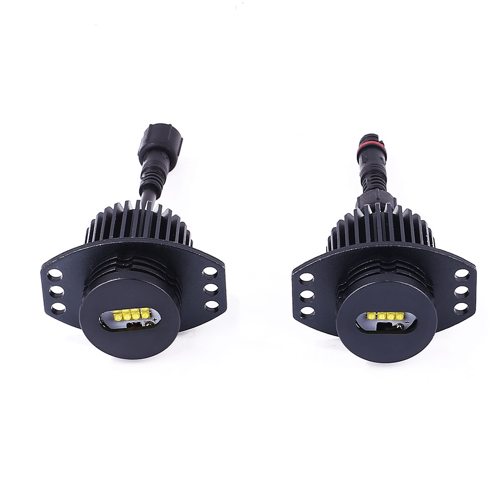 VEHEMO 2Pcs 80W High Power <font><b>Headlight</b></font> <font><b>LED</b></font> Chip <font><b>LED</b></font> Marker Angel Eyes Halo Ring Light Lamp Bulbs For <font><b>BMW</b></font> <font><b>E90</b></font> Car-Stying image