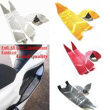 Modificados de la motocicleta PCX125 PCX completo CNC reposapiés aluminio pie resto almohadillas de pie esteras para honda pcx 150, 125, 155, 2018, 2019
