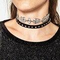 JEAE 2017 Hot Boho Za Collar Choker Drop Crystal Beads Necklace & pendant Charm Vintage Statement Beads Leather Neck Chain Jewel