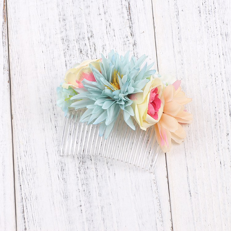 Fashion Beautiful Fabric Flower Hairwear Combs For Women Bridal Wedding Party Hair Jewelry Accessories hair clips for women in Women 39 s Hair Accessories from Apparel Accessories