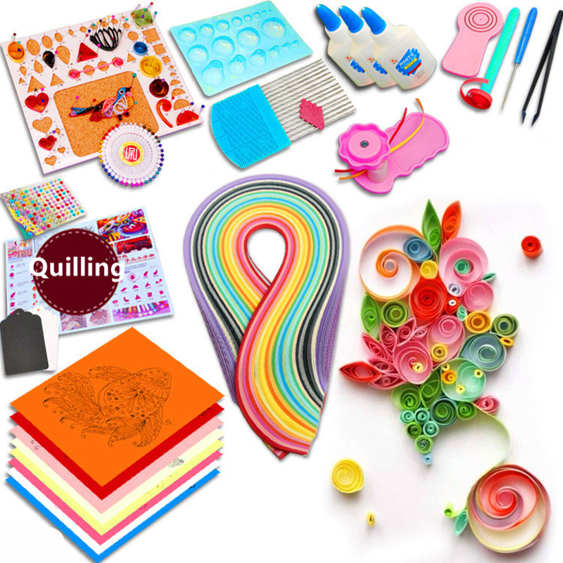 Starter Quilling Paper Tool Rolling Pen Needle Tweezer 3mm/5mm Paper Quilling Kit For Art & Craft Supplies Handmade DIY Decor