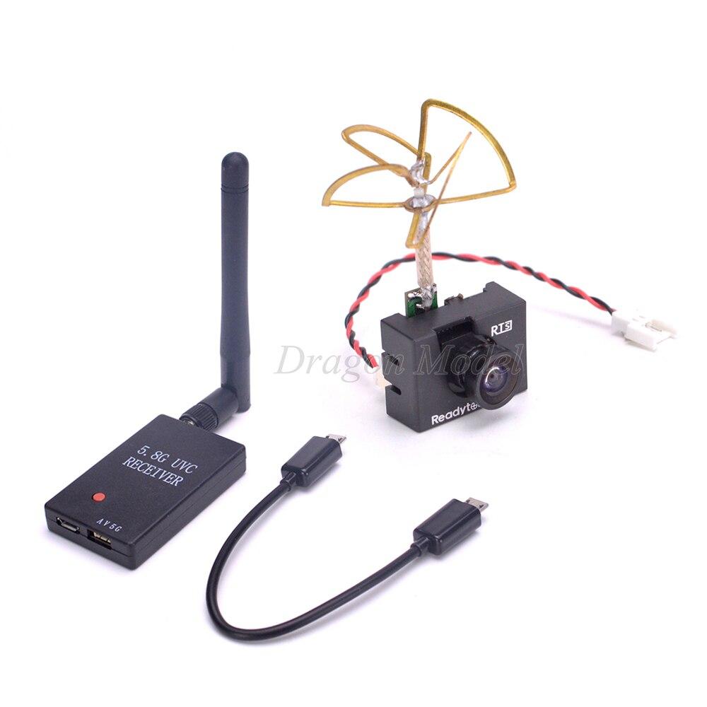 5.8g UVC Récepteur Vidéo Liaison Descendante OTG 48CH 5.8g 25 mw VTX 1000TVL Caméra Intégré Émetteur Pour FPV Mini RC Drone Quadcopter