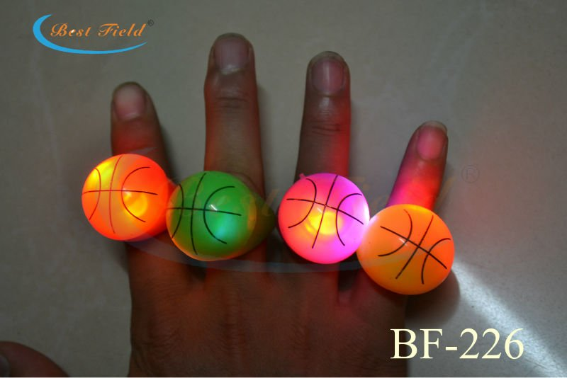 Free Shipping 36pcs/lot Soft Flicker flash led finger ring led light basketball ring Glow Kids Children Party Favors Glow Toys