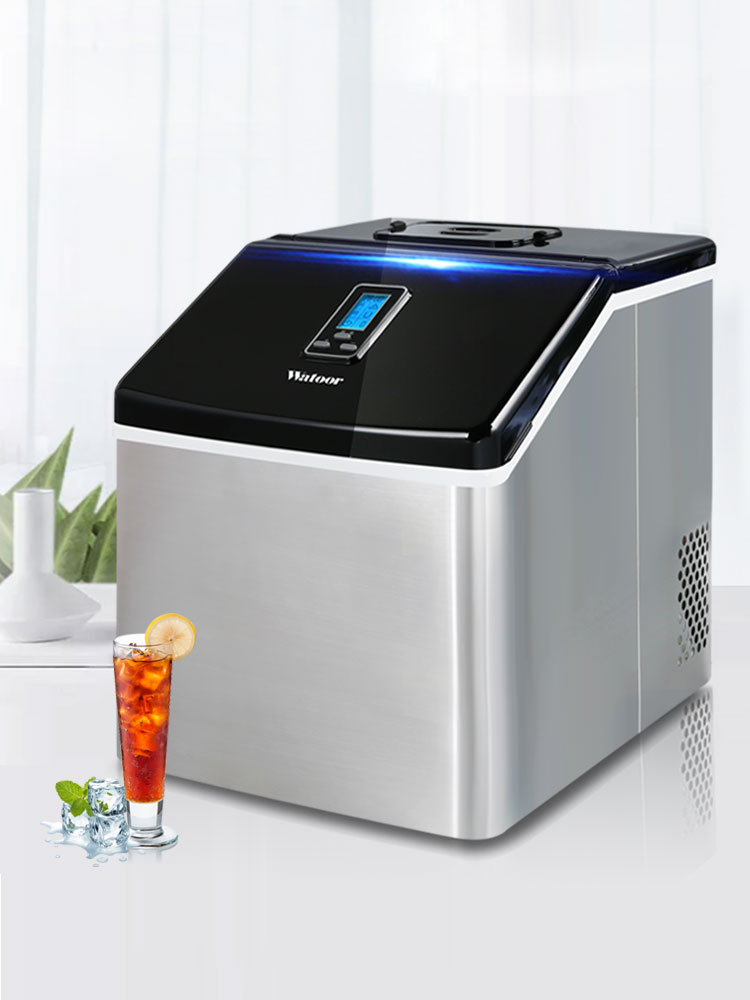 Ice Maker 25kg Commercial Small Tea Shop Manual Household Bar Table Bar Square Ice Cube Production Machine