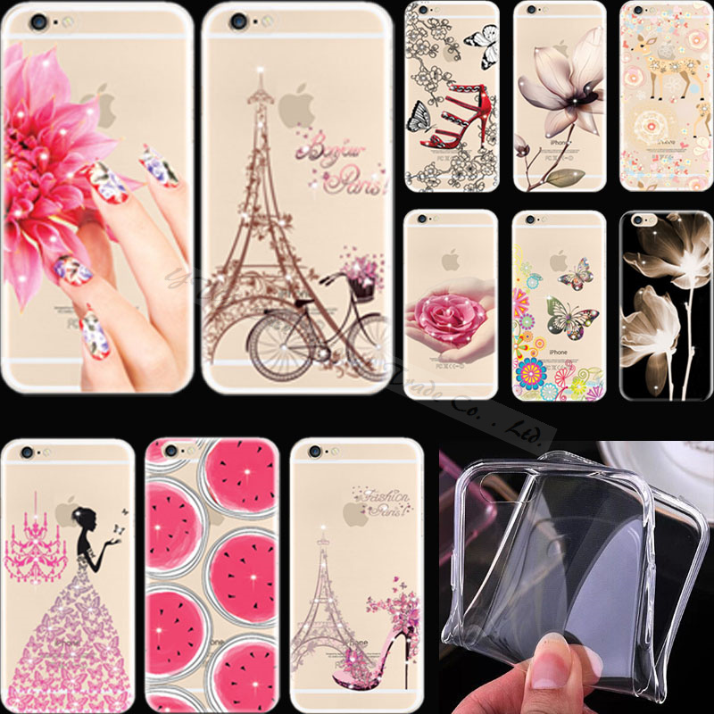 Crystal Bright Diamond Pattern Vivid Silicon Phone Shell Cover For Apple iPhone 4 iPhone 4S iPhone4 iPhone4S Case Cases TR ER WY