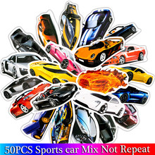 hot deal buy 50pcs/ pack sports car stickers set  car fan stickers for luggage skateboard laptop guitar fridge bicycle stickers