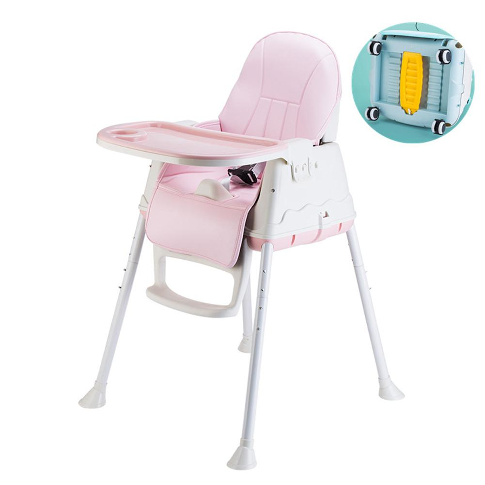 Kidlove New Multifunctional Adjustable Baby Kids Safety Dining High Chair Booster With Seat Wheels Warm Cushion New High Quality