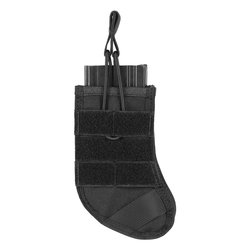 Stocking-shaped Mag Pouch Open-Top Single Rifle Magazine Pouch AR 30/40, AK30 Mag Pouch For Airsoft Paintball