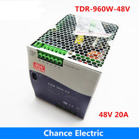Meanwell 960W 48V Power Supply TDR 960 48V 20A Three Phase Industrial DIN RAIL with PFC Function 48V Switching Power Supply