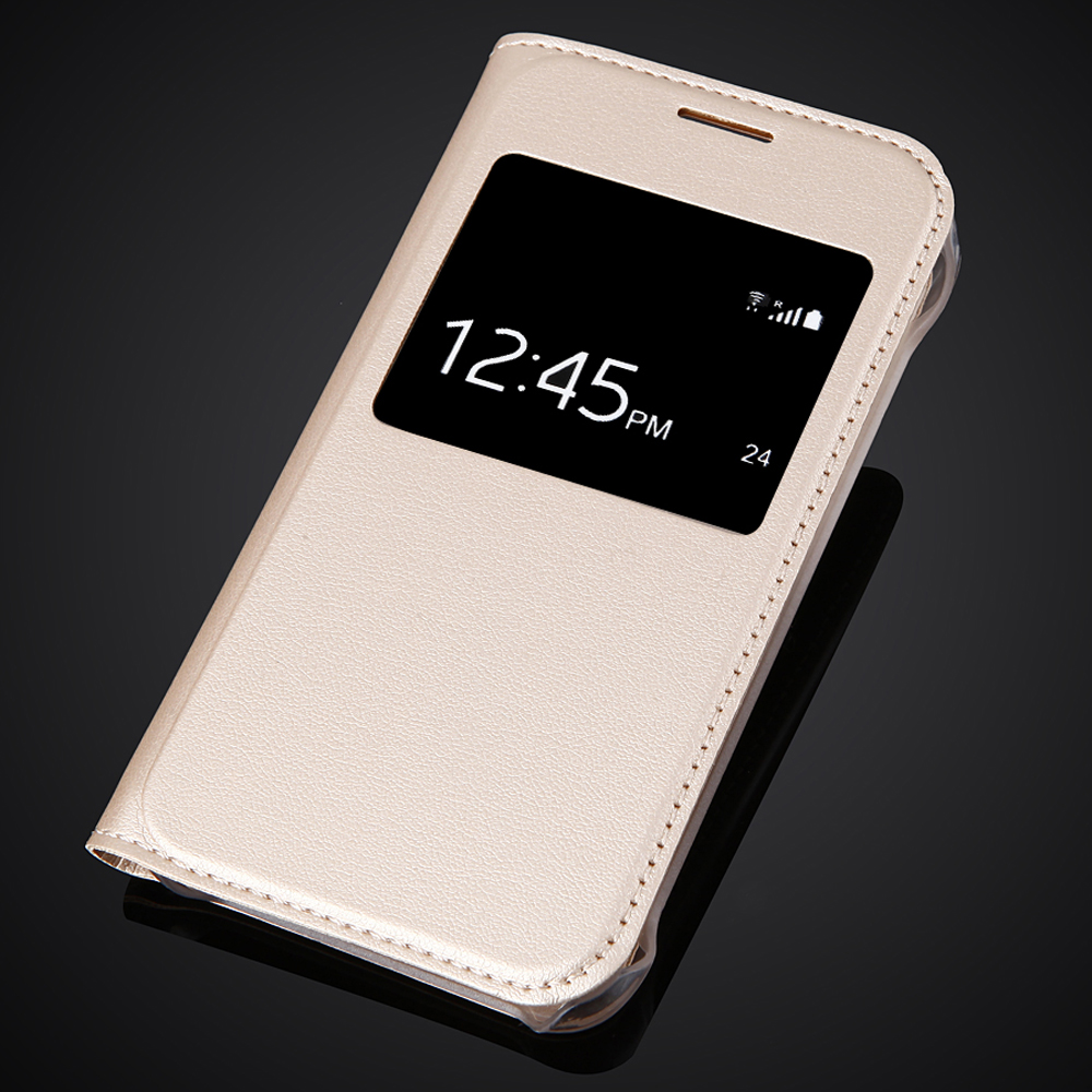 Luxury Ultra Thin View Window Flip Leather SKin Case Cover For <font><b>Samsung</b></font> <font><b>Galaxy</b></font> <font><b>J1</b></font> Nxt / <font><b>J1</b></font> <font><b>mini</b></font> (<font><b>2016</b></font>) J105 <font><b>J105H</b></font> J105F <font><b>SM</b></font>-<font><b>J105H</b></font> image