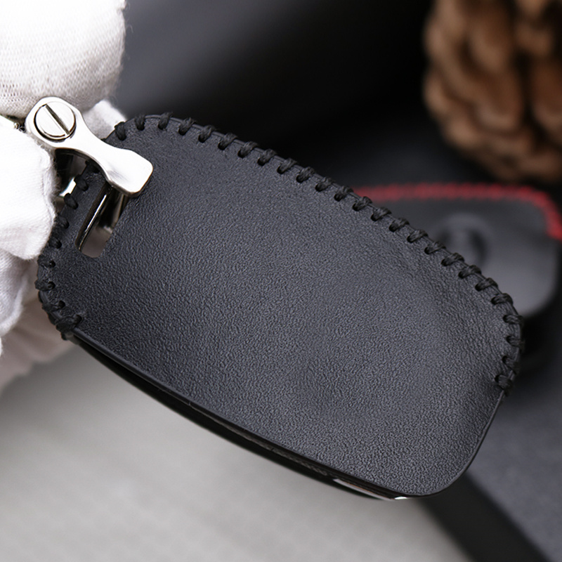 Cubierta de la caja de la llave del coche del cuero genuino para Kia - Accesorios de interior de coche - foto 6