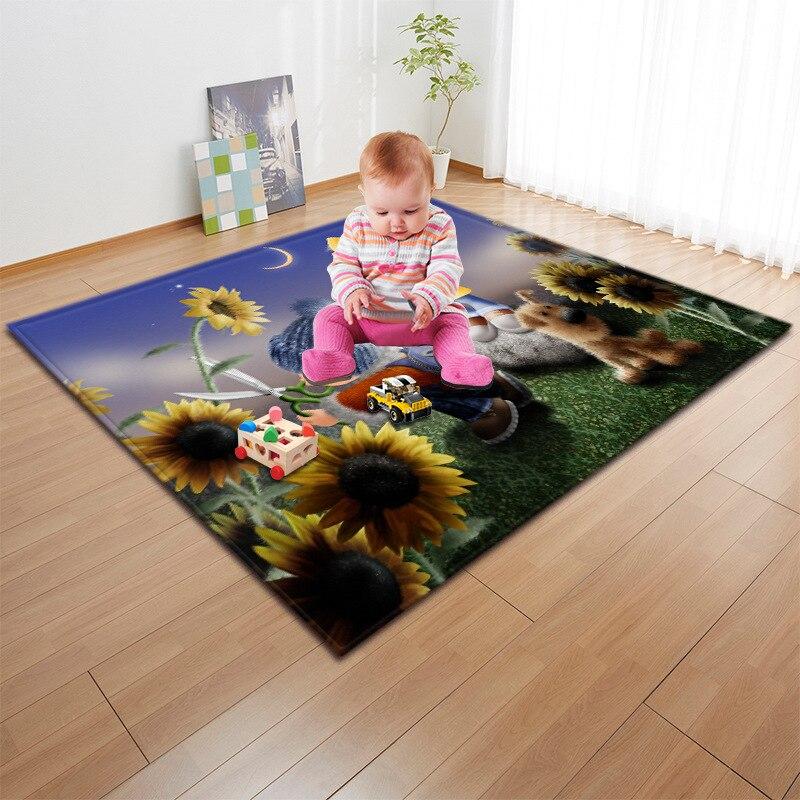Enfants/bébé ramper tapis de jeu mode 3D Cartoon imprimé enfants jeu tapis doux bébé tapis de jeu tapis de pique-nique en plein air tapis et tapis - 3