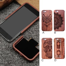 Besegad Unique Handmade Genuine Natural Wood Carving Case Cover Skin Shell for iPhone 6 S 6S Plus iphone6 iphone6s 4.7 5.5 Inch(China)