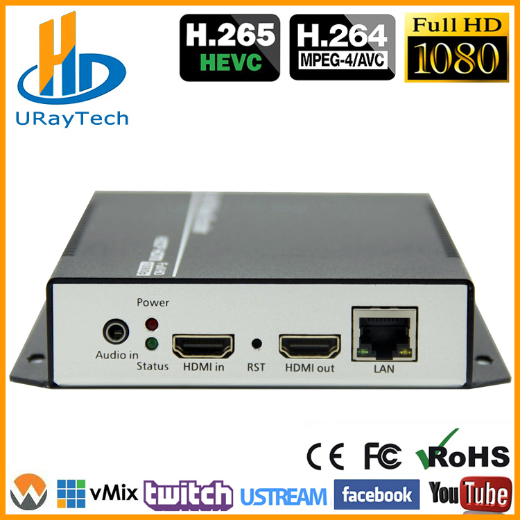 HEVC HDMI Video Audio IPTV Encoder H 265 H 264 Live Broadcast RTMP Encoder HDMI To